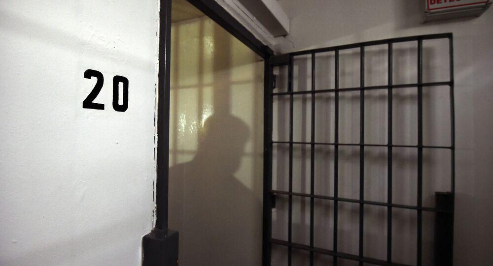 View of the cell in the Almoloya prison where Joaquin Guzman Loera El Chapo Guzman was and from which he escaped through a tunnel, on July 15, 2015 in Almoloya de Juarez, Mexico.