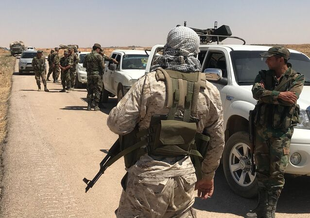 The Syrian Army in Daraa Province on the border with Jordan. File photo