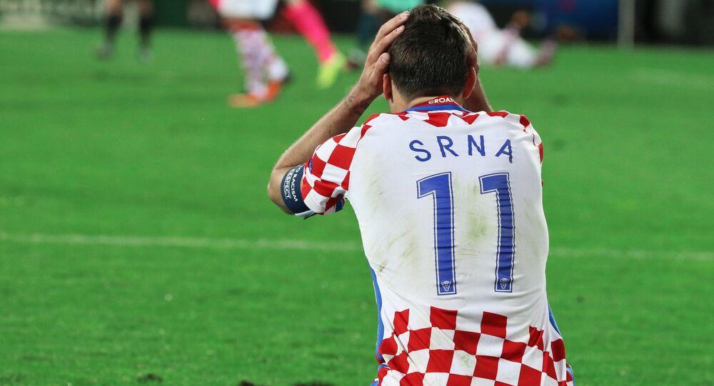 Croatia's Darijo Srna after the 2016 UEFA European Championship 1/8 final between the national teams of Croatia and Portugal.