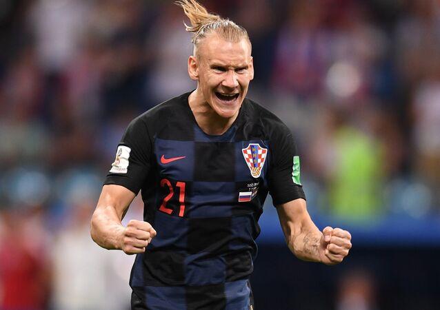 Croatian defender Domagoj Vida during the Russia vs Croatia match in Sochi on July 7