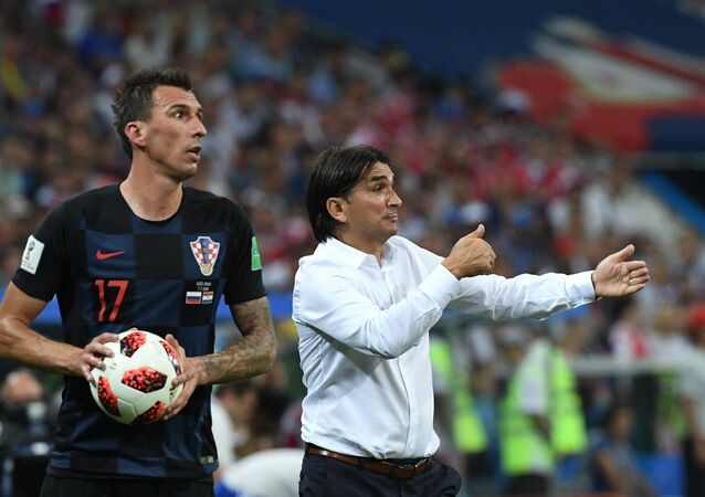 Croatian Head Coach Zlatko Dalic During the Word Cup Quarterfinal Game Against Russia. 2018