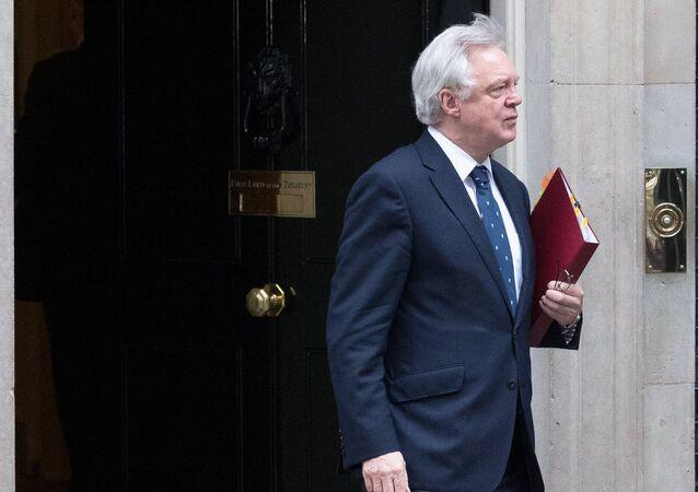 Britain's Secretary of State for Exiting the European Union David Davis