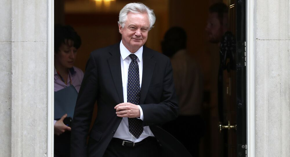 Britain's Secretary of State for Departing the EU David Davis leaves 10 Downing Street in London, Britain, June 12, 2018