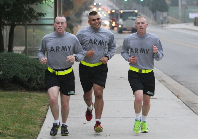 Running soldiers