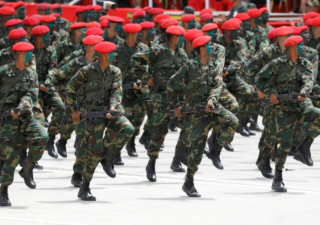 Soldiers take part in a military parade to celebrate the 207th anniversary of Venezuela's independence in Caracas, Venezuela July 5, 2018.