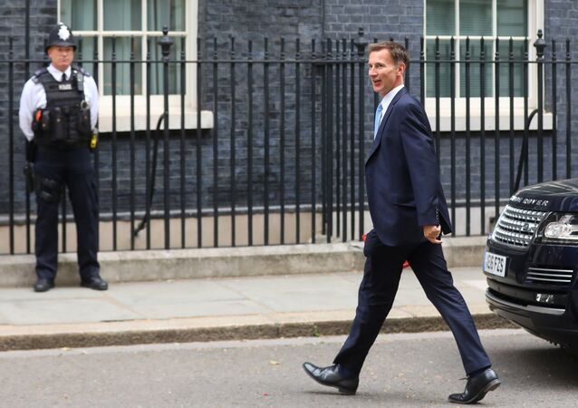Britain's Secretary of State for Foreign and Commonwealth Affairs Jeremy Hunt arrives in Downing Street for this morning's cabinet meeting in Westminster, London, Britain, July 10, 2018