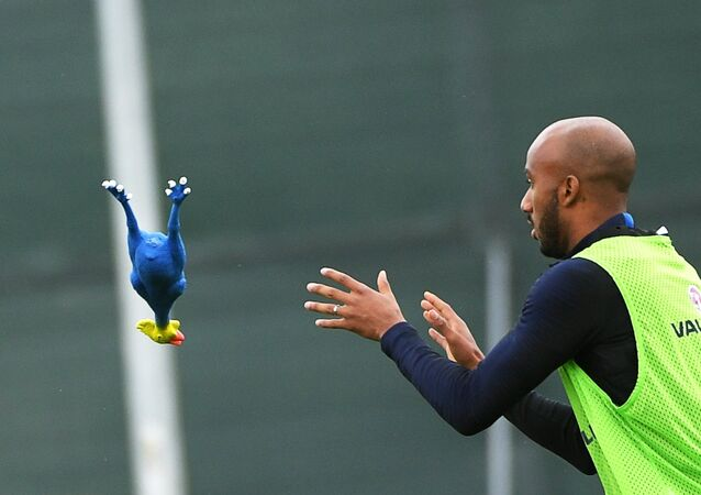 England national football team player Fabian Delph during training ahead of the semi-final match of the World Cup against Croatia.