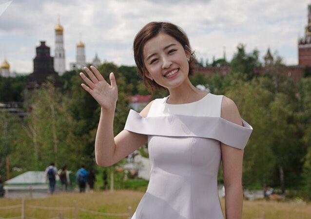 Chinese TV anchor Yang Mimgming