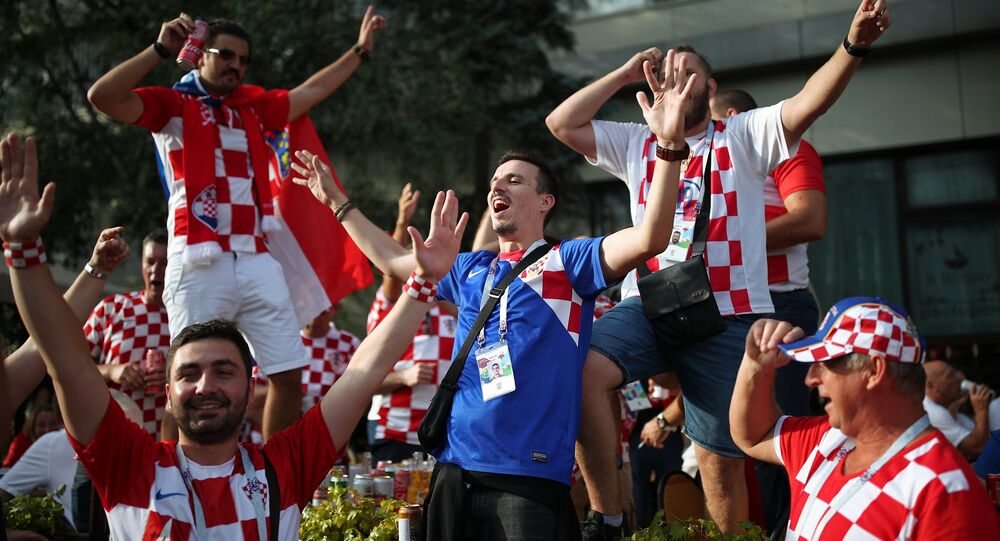 Football Fans Arriving at Luzhniki Stadium For England-Croatia Match