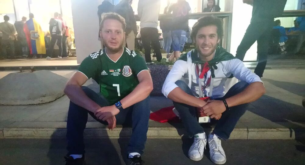 Santiago and Oscar, fans from Mexico