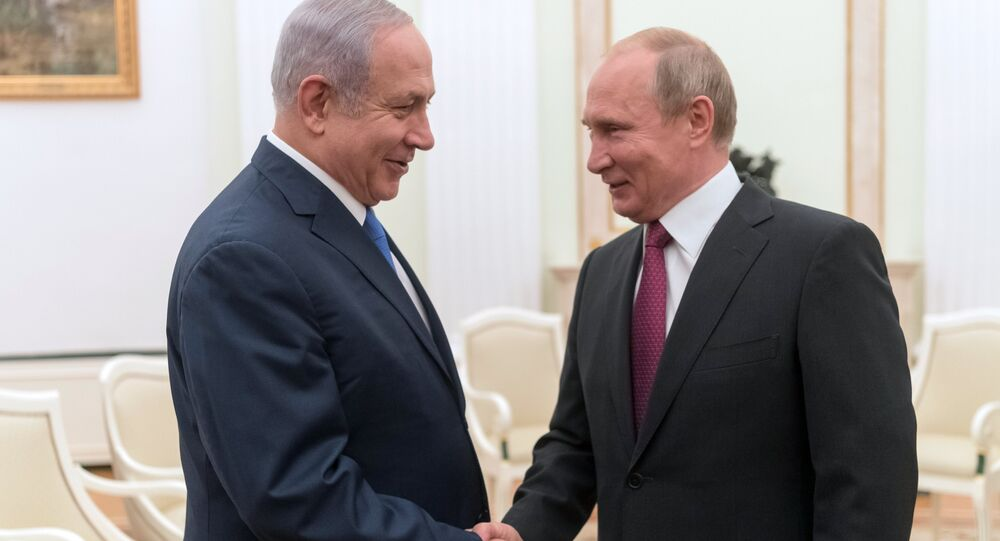 July 11, 2018. Russian President Vladimir Putin and Israeli Prime Minister Benjamin Netanyahu, left, during their meeting