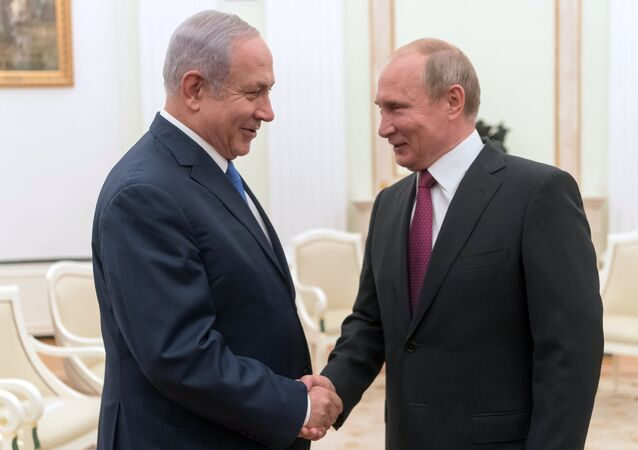 July 11, 2018. Russian President Vladimir Putin and Israeli Prime Minister Benjamin Netanyahu, left, during their meeting