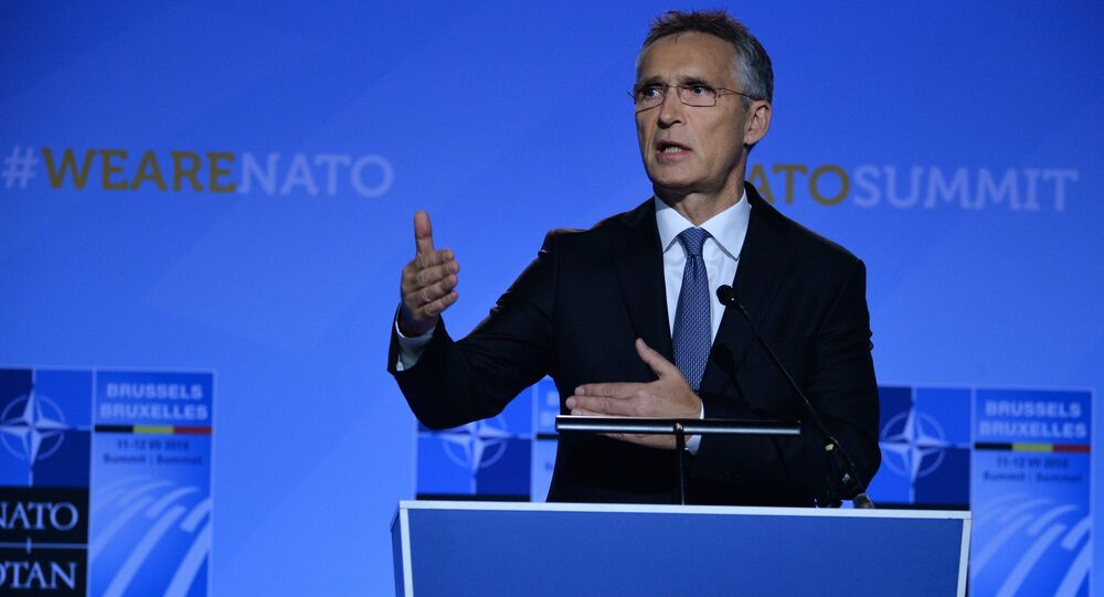 NATO Secretary-General Jens Stoltenberg is holding a press-conference.
