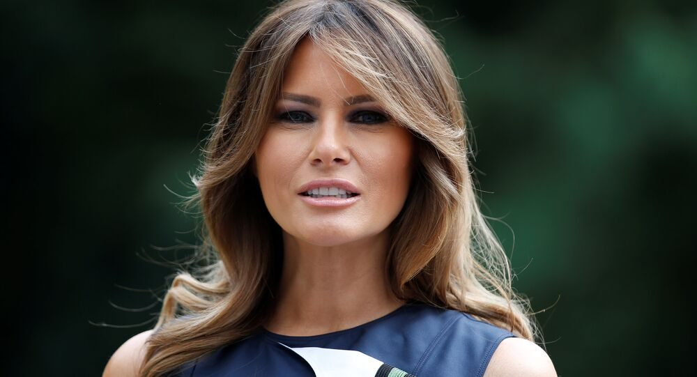 US first lady Melania Trump poses for a picture at the Queen Elisabeth Music Chapel in Waterloo, Belgium July 11, 2018. REUTERS/Vincent Kessler