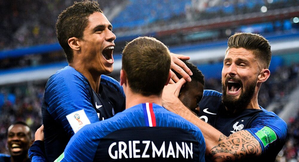 France team during World Cup 2018