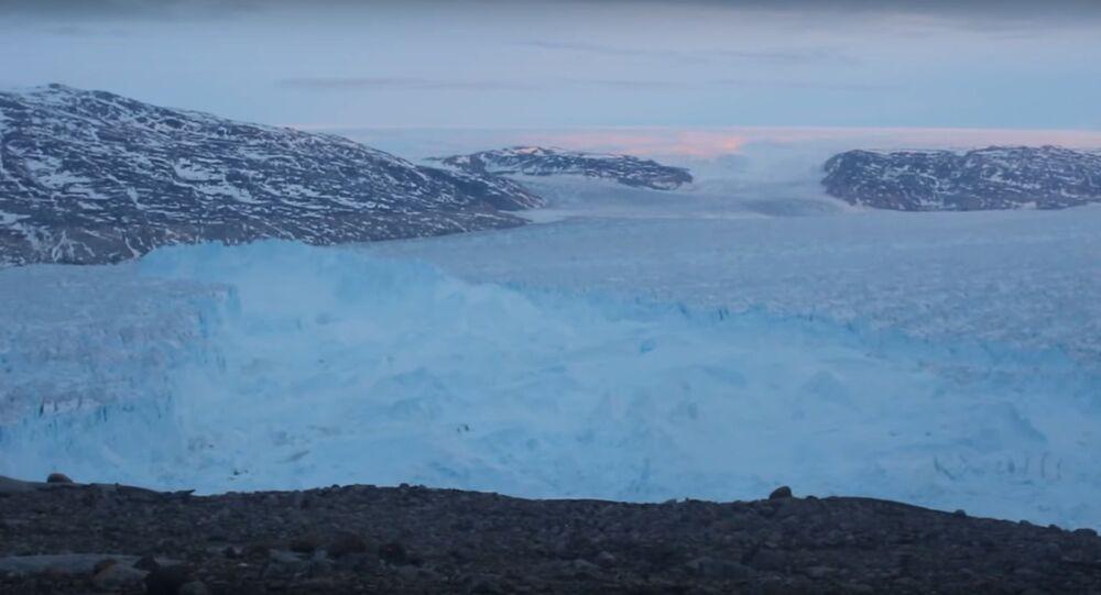 NYU Scientists Capture 4-mile Iceberg Breaking in Greenland