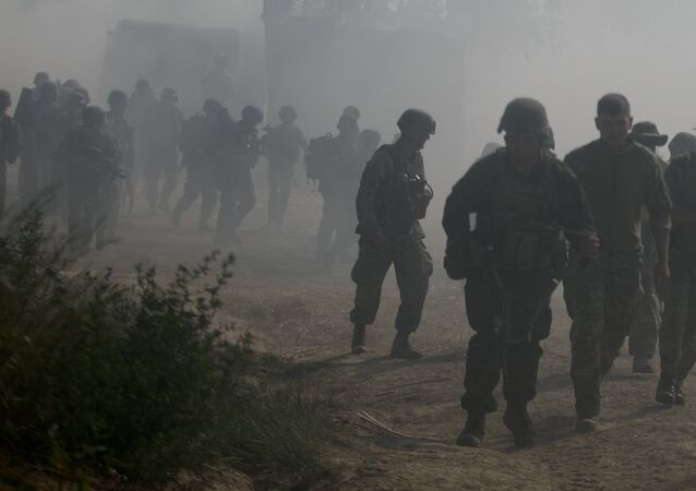 U.S. Marines assigned to U.S. Marine Corps Forces Europe and Africa and Ukrainian marines secure the beach after an amphibious landing in Nikolaev, Ukraine, during exercise Sea Breeze 2017, July 19. Sea Breeze is a U.S. and Ukraine co-hosted multinational maritime exercise held in the Black Sea and is designed to enhance interoperability of participating nations and strengthen maritime security within the region.