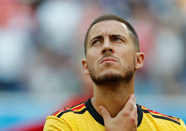 Soccer Football - World Cup - Third Place Play Off - Belgium v England - Saint Petersburg Stadium, Saint Petersburg, Russia - July 14, 2018 Belgium's Eden Hazard
