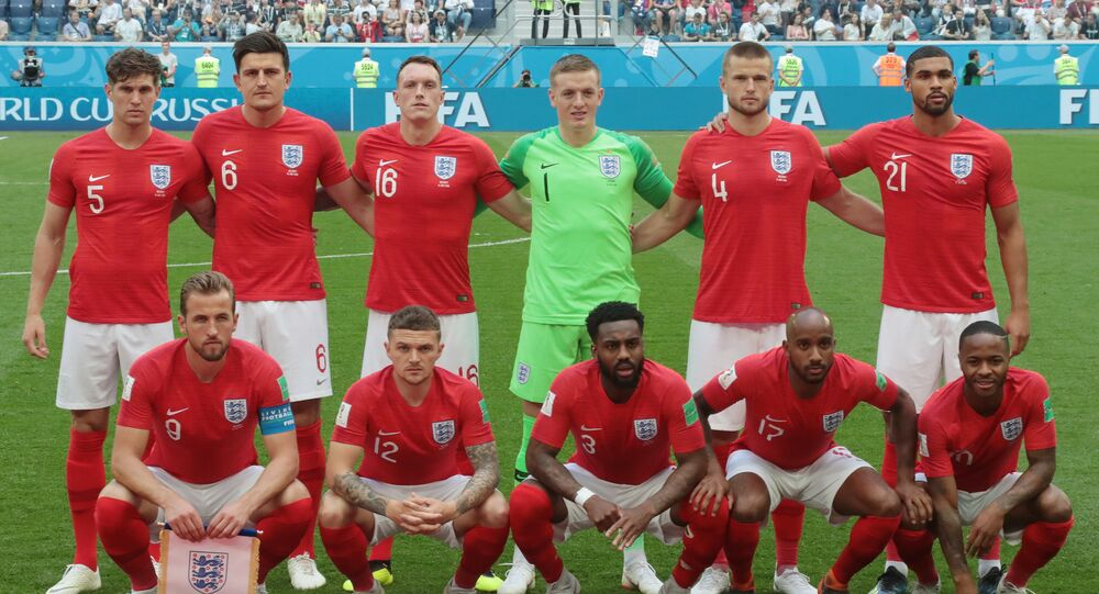 England ahead of the World Cup match against Belgium on July 14, 2018
