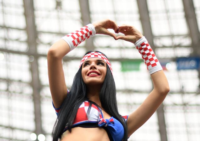 World Cup: A Croatian fan ahead of the final match against France in Moscow on July 15, 2018