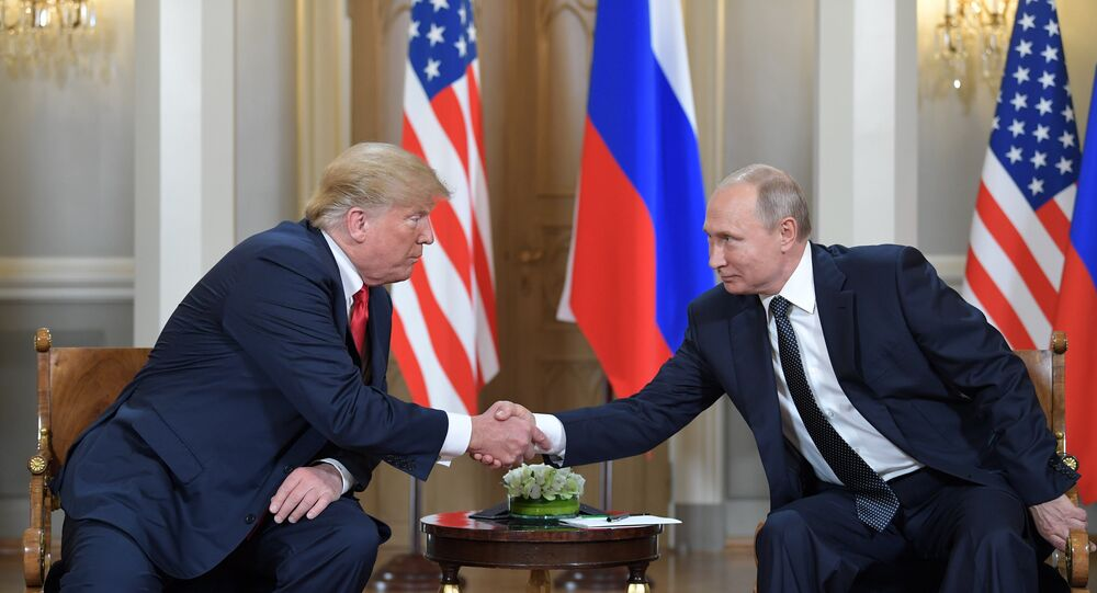 U.S. President Donald Trump meets with Russia's President Vladimir Putin in Helsinki, Finland, July 16, 2018