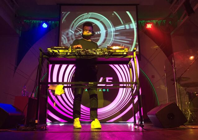 British DJ Paul Oakenfold performs in Moscow, July 15, 2018