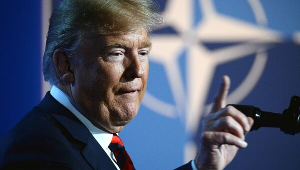 US President Donald Trump at the NATO summit of heads of state and government, Brussels - Sputnik International