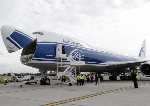 The Boeing 747-8 (pictured) will fill the vacuum left by the demise of the Antonov aircraft company