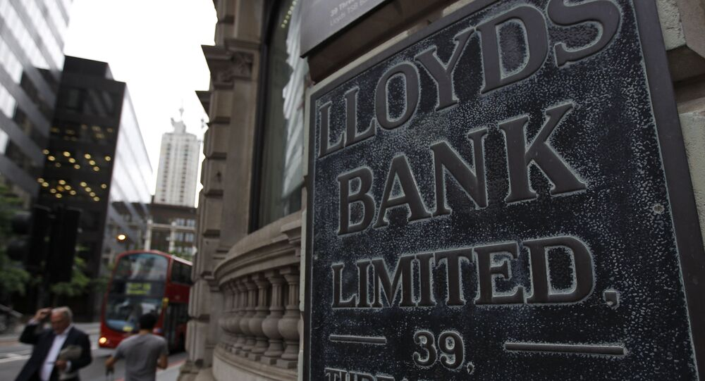 A view of a Lloyd's bank branch, in London's City financial district, Friday, June 29, 2012