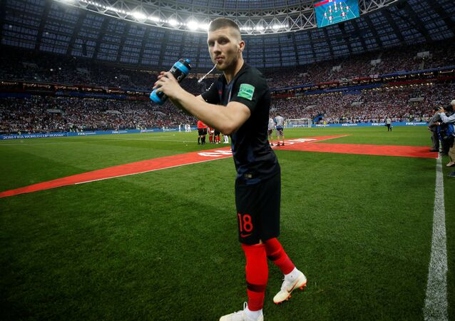 Soccer Football - World Cup - Semi Final - Croatia v England - Luzhniki Stadium, Moscow, Russia - July 11, 2018 Croatia's Ante Rebic before the match