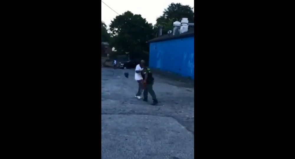 Footage obtained from the Atlanta Police Department shows a July 9, 2018, altercation between Sgt. Dominique Pattillo and Harold Barnwell.