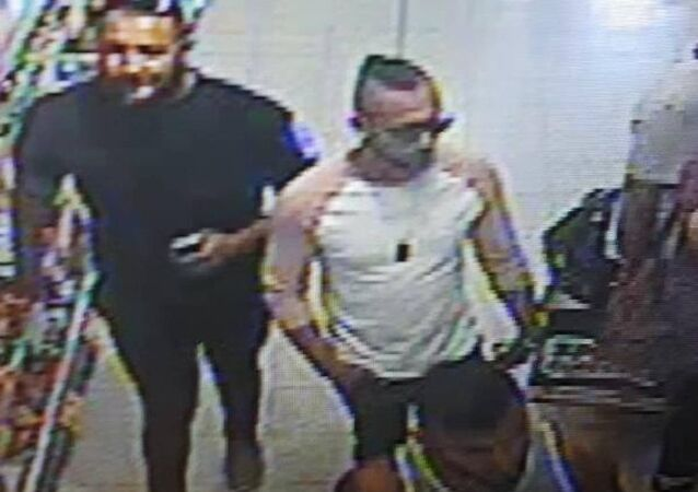 Police issued this image of three men they would like to speak to about the suspected acid attack