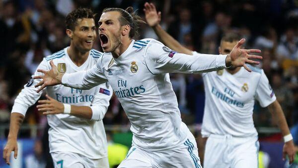 Real Madrid's player Gareth Bale, center, celebrates a goal (File) - Sputnik International