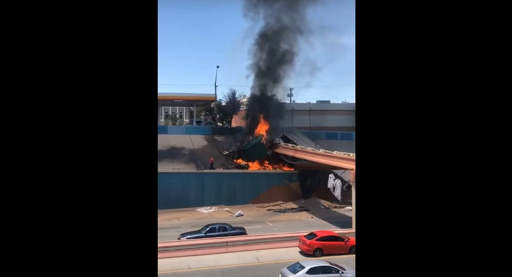 Man Escapes Semi Truck Engulfed in Flames