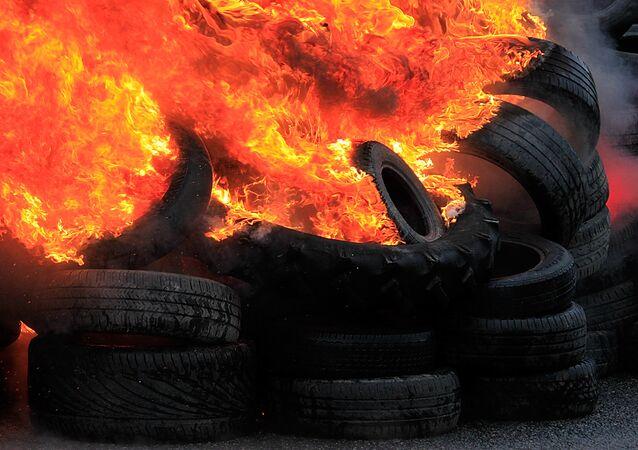 Burning tires (File)