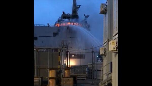 LSS Vulcano A5335. Big fire on board - Sputnik International