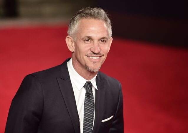 Former England internatonal Gary Lineker poses on arrival for the world premiere of the new James Bond film 'Spectre' at the Royal Albert Hall in London on October 26, 2015