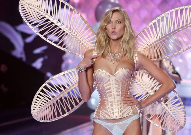 Karlie Kloss on the Victoria's Secret show catwalk