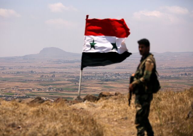 A soldier loyal to Syria's President Bashar al-Assad's forces is seen in Quneitra, Syria July 22, 2018