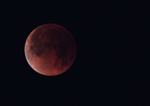 The super blue blood moon is seen over Los Angeles, California. File photo