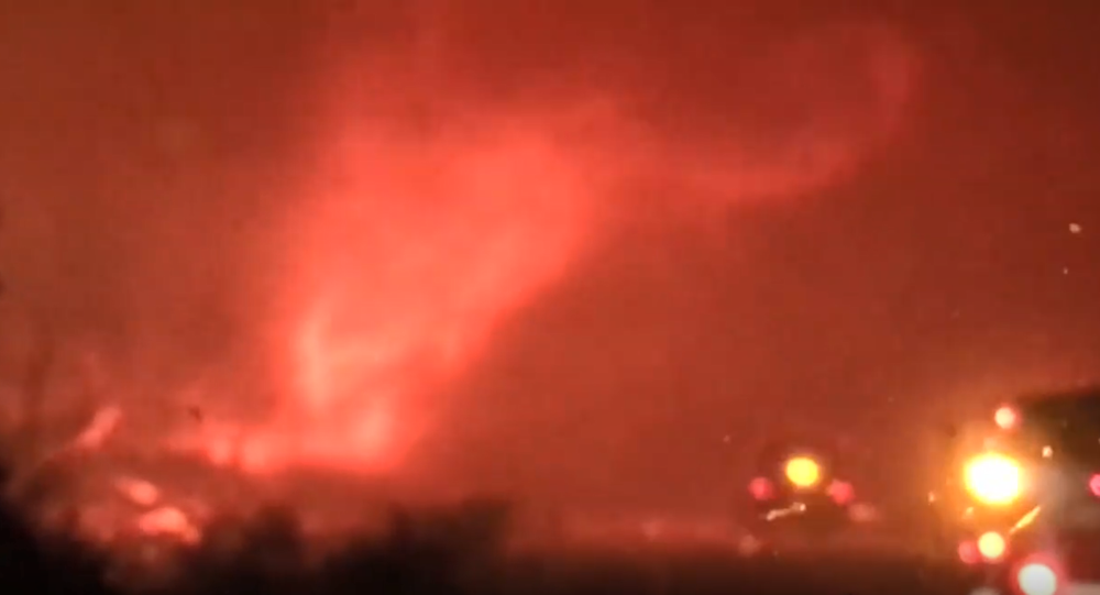 A tornado of fire spotted in the Carr Fire, California