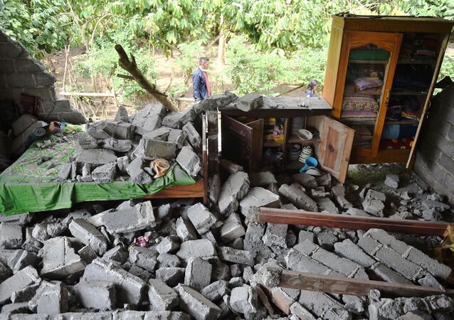A damaged house is seen after an earthquake hit Sajang village in Lombok Timur, Indonesia, July 30, 2018