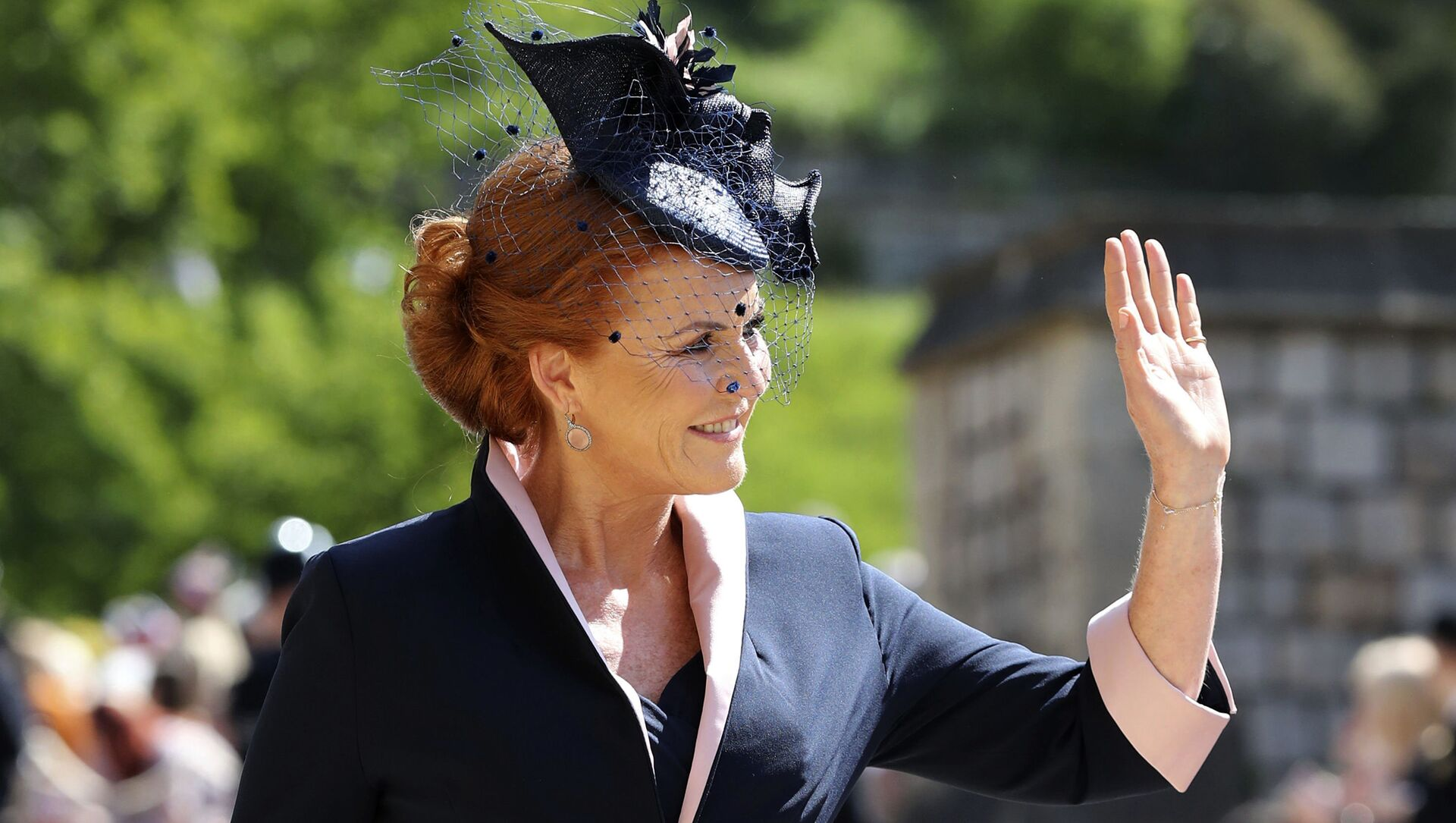 Sarah Ferguson arrives for the wedding ceremony of Prince Harry and Meghan Markle at St. George's Chapel in Windsor Castle in Windsor, near London, England, Saturday, May 19, 2018 - Sputnik International, 1920, 03.08.2021