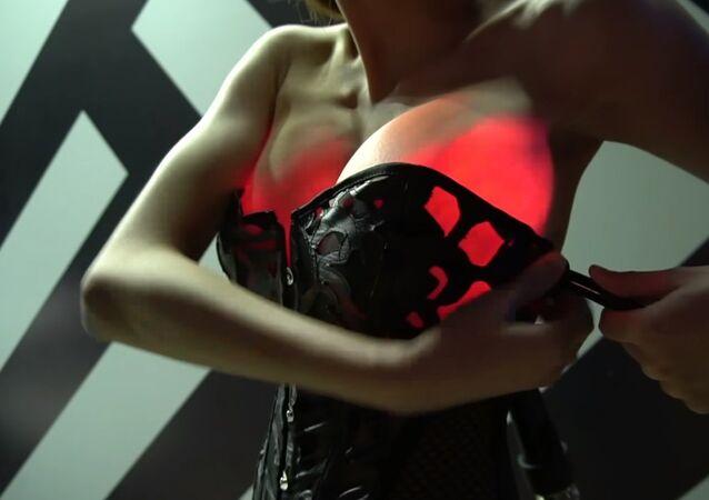 Cyberpunk Wearable Fiber Optic Implant Transillumination