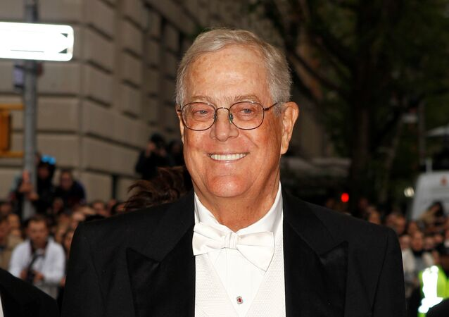Businessman David Koch arrives at the Metropolitan Museum of Art Costume Institute Gala Benefit celebrating the opening of Charles James: Beyond Fashion in Upper Manhattan, New York May 5, 2014