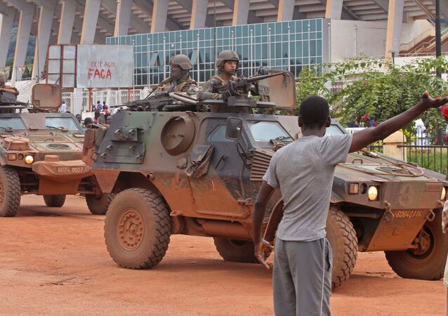 French peacekeeping soldiers patrol the city of Bangui, Central African Republic (File)