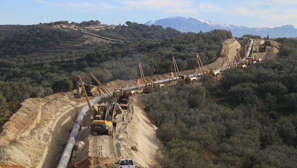 Construction of the Trans-Adriatic Pipeline - Sputnik International