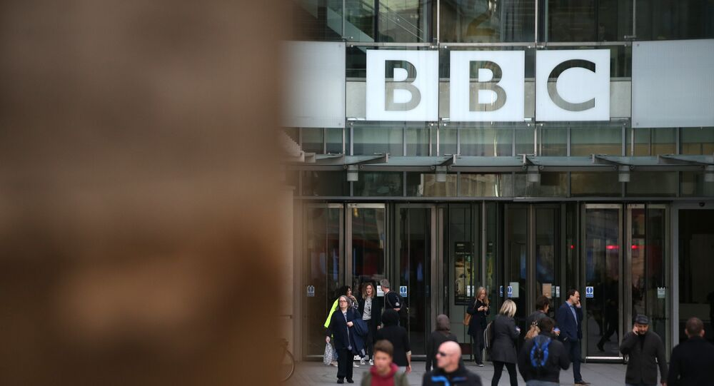 A general view of the headquarters of the British Broadcasting Corporation (BBC) in London on October 30, 2017