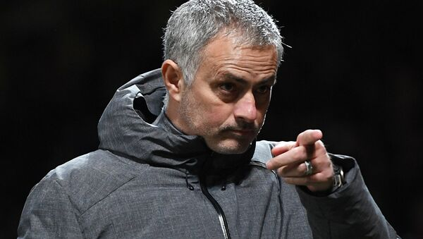 Manchester United manager Jose Mourinho is seen during the Champions League group stage clash with Russia club CSKA Moscow - Sputnik International