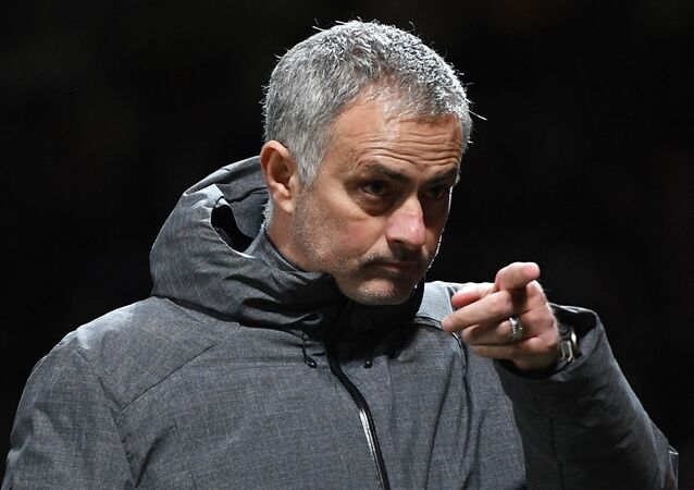 Manchester United manager Jose Mourinho is seen during the Champions League group stage clash with Russia club CSKA Moscow